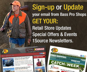Bass Pro hunting email sign-up