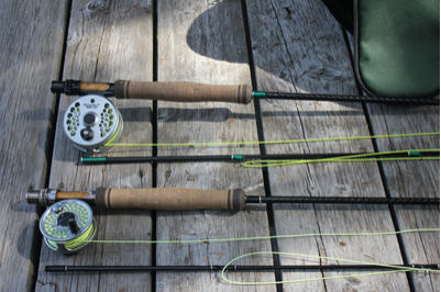1 fly fishing rods
