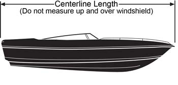 boat cover centerline length  measurement