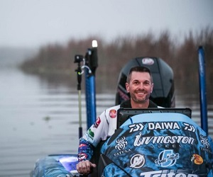 Randy Howell driving boat