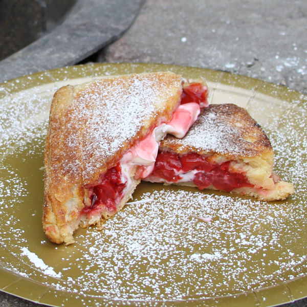 Delicious recipe for Fruit Filled Cream Cheese Turnovers in a Pie Iron