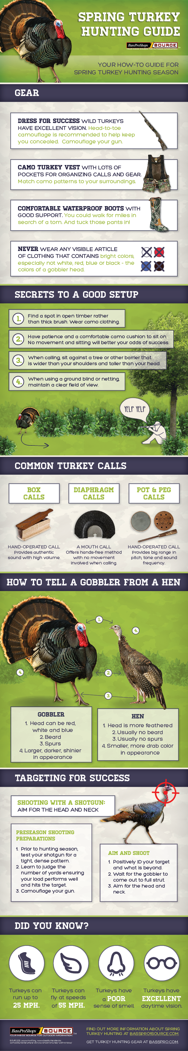Spring Turkey Hunting Guide from Bass Pro Shops