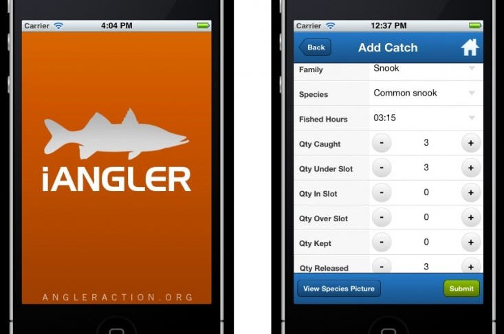angler action mobile apps