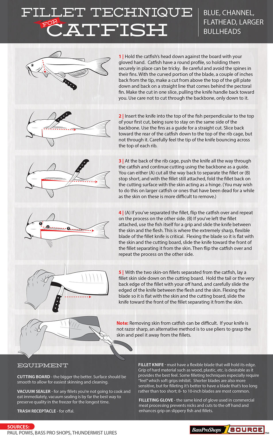 catfish fillet how to graphic & steps