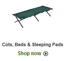 shop camping cots and  beds