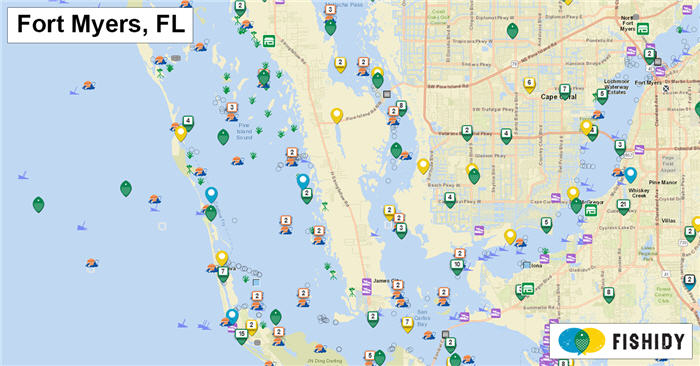 fishing map ftMyers