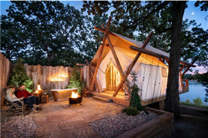 Glamping tent at Big Cedar Lodge