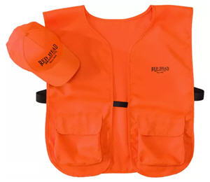 RedHead Blaze Orange Cap and Vest Combo for Men