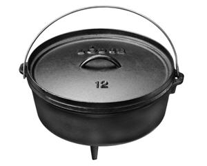 Lodge Logic 6-Quart Cast Iron Camp Dutch Oven