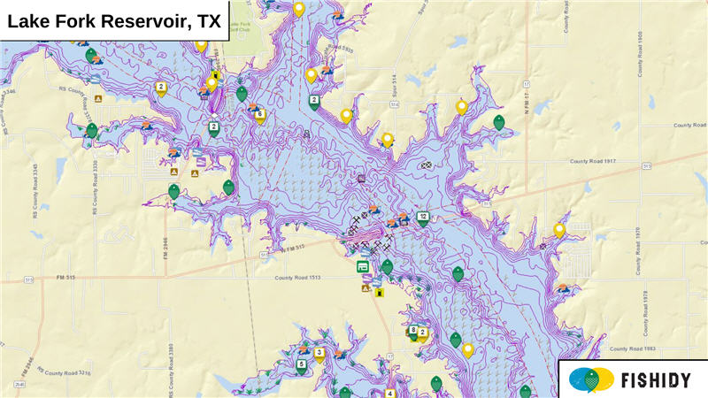 Lake Fort Reservoir, Texas Fishing Reports, Map & Hot Spots