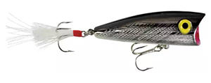 Topwater popper bait Rebel Pop-R - Silver/Black