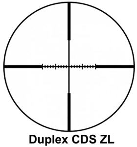 reticle or crosshair aiming point