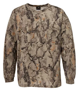 natural gear camo long-sleeve t-shirt