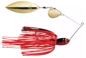 Strike King Premier Plus Spinnerbait Tandem - red / crawfish