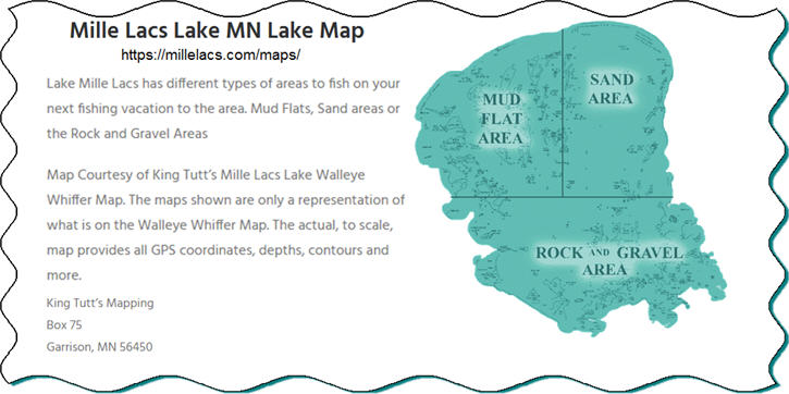 lake mille lacs MN map