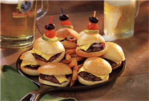 A plate of venision sliders