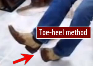 toe-heel method