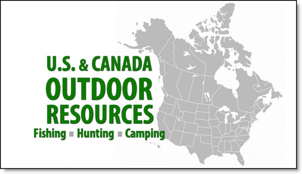 U.S. & Canada Outdoor Fishing, Hunting, Camping Resources Map