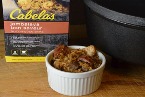 Cabela's premade dutch oven meals