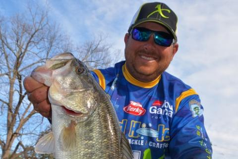 Berkley Pro John Cox With a Hartwell Bass Caught on a Berkley General Worm by Berkley Pro John Cox With a Hartwell Bass Caught on a Berkley General Worm...