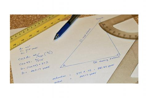 Calculating angles formula on paper