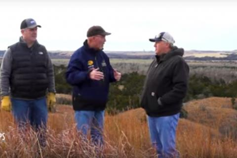 Grant Woods with two land owners in the buck habitat