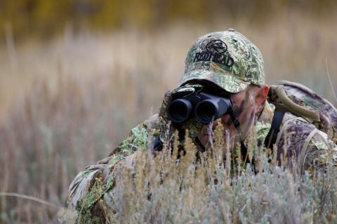 hunting using binoculars