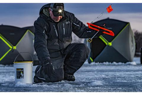 rigging tip ups for ice fishing