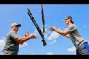 1Source Video: Gould Brothers: Trick Shots Pump Shotgun  | Throw N Loads