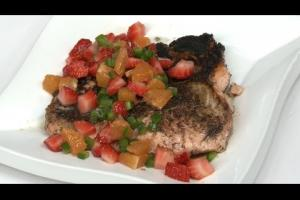 Blackened Salmon with Strawberry & Citrus Salsa Recipe