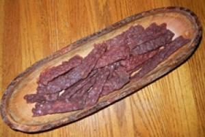 Venison Jerky on a plater