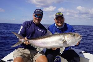 Anglers with Amberjack catch
