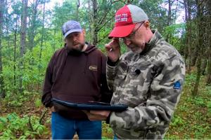 Grant Woods planning food plot location