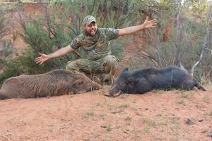 Braggin' Board Photo: Brandon's 2 Texas Hogs