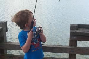 First fish caught by himself