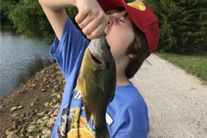 Nephew Catching Bluegill fish