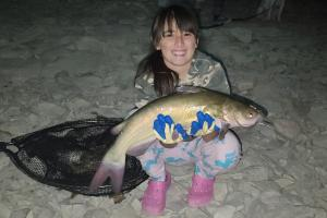 Young girl & big catfish