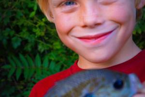 Braggin' Board Photo: Bryce and his Blue Gill
