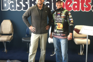 Braggin' Board Photo: Kevin Rowe and I at BassBoatSeats.com showroom. Great replacement boat seats!!!