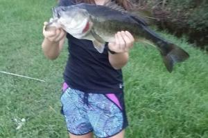 Braggin' Board Photo: Big Bass for a little lady