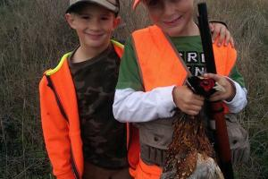 Braggin' Board Photo: Ethan and Owen's first pheasant hunt