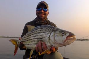 Braggin' Board Photo: 7 lbs Zambezi Tigerfish on a 7wt.