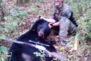 Braggin' Board Photo: My First Bear about 200 lbs