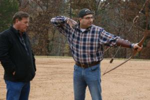 Braggin' Board Photo: Byron Ferguson teaches a unique style of aiming at his archer school at Goodman Ranch in West Tennessee.