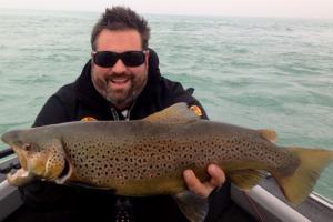 Braggin' Board Photo: Fishing Trout on Lake Michigan