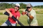 1Source Video: Gould Brothers Trick Shots: Pump Shotgun  | Shoot N Eject