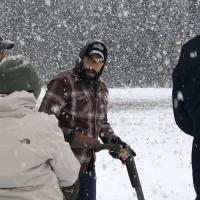 Shooter in snow