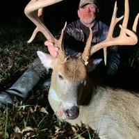 deer hunter  & buck